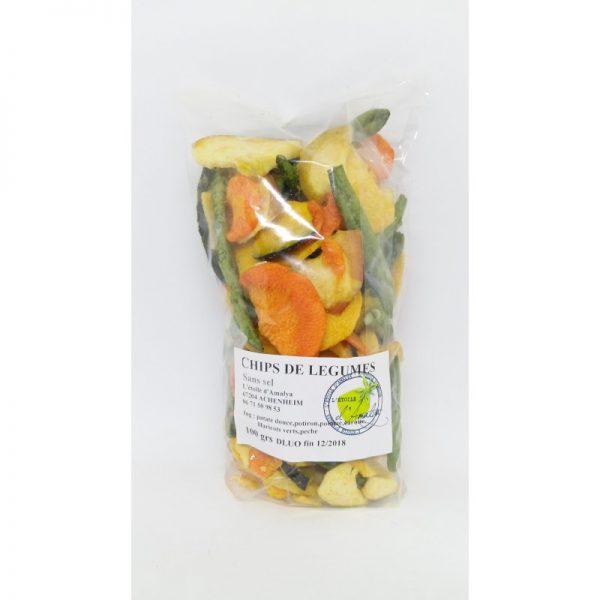 chips de légumes 100grs