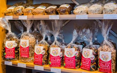 Vente de produits locaux à Westhalten